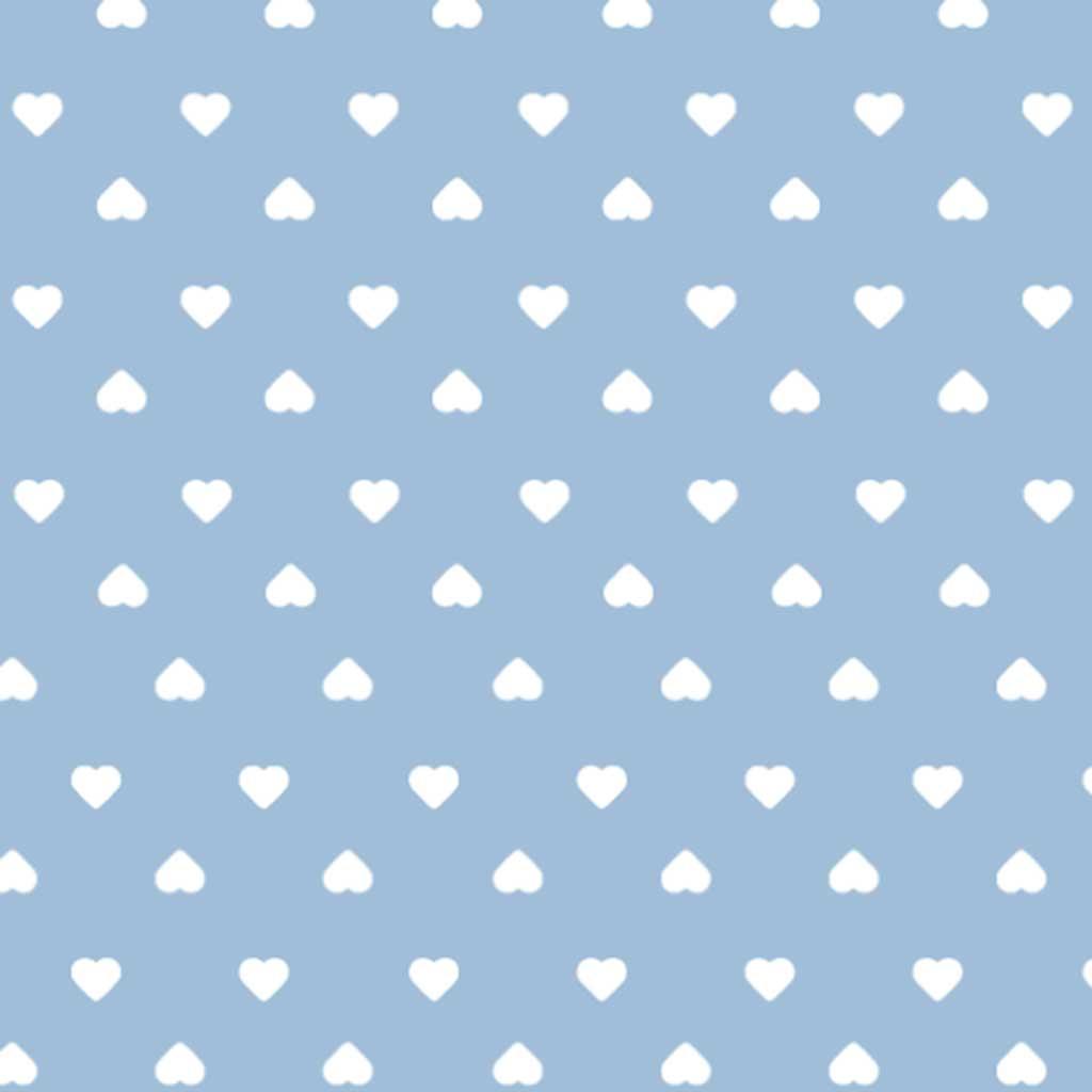 Tricoline Coração Azul Claro