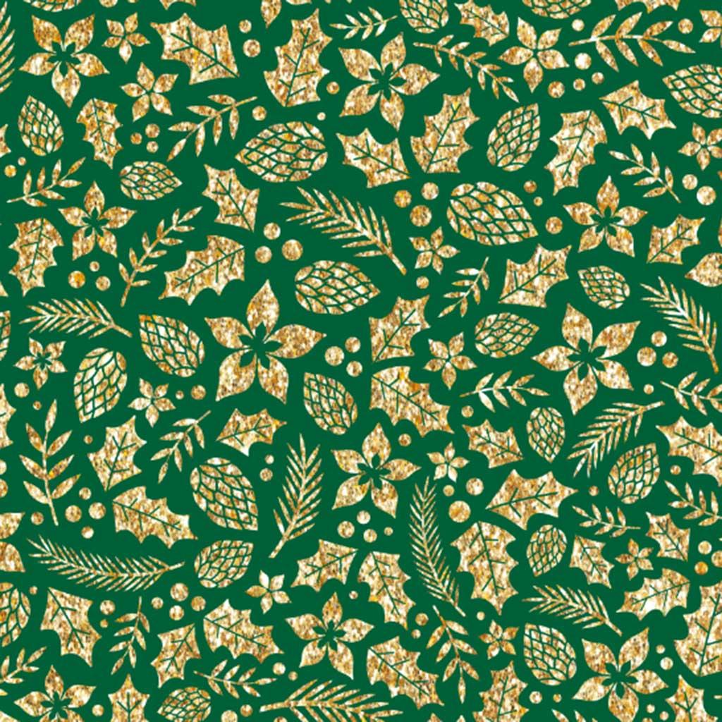Tricoline Folhas Natal Verde