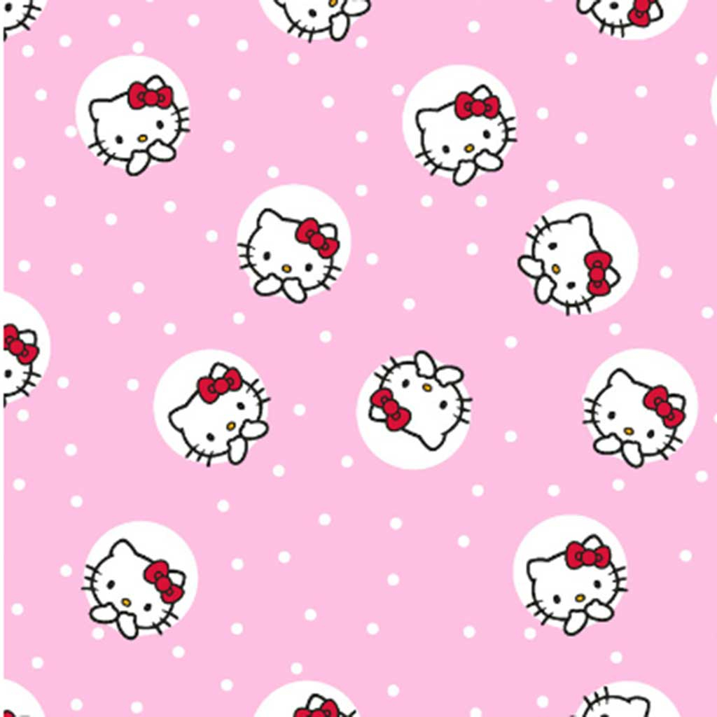 Tricoline Hello Kitty Dots Rosa Claro