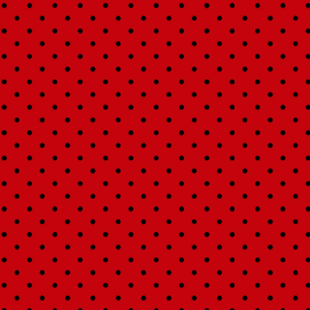 Tricoline Mini Poa Vermelho Preto