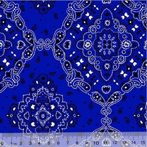 Tricoline Bandana Azul Royal