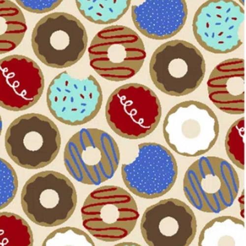 Tricoline Donuts Bege