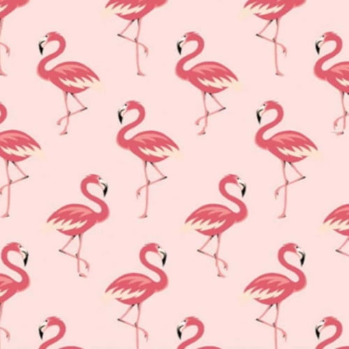 Tricoline Flamingo Rosa