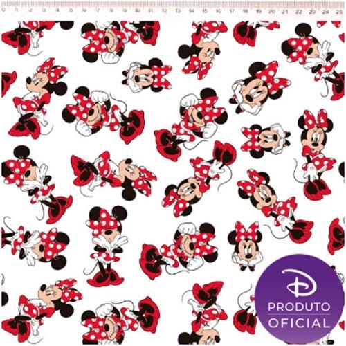 Tricoline Minnie Mouse Branco