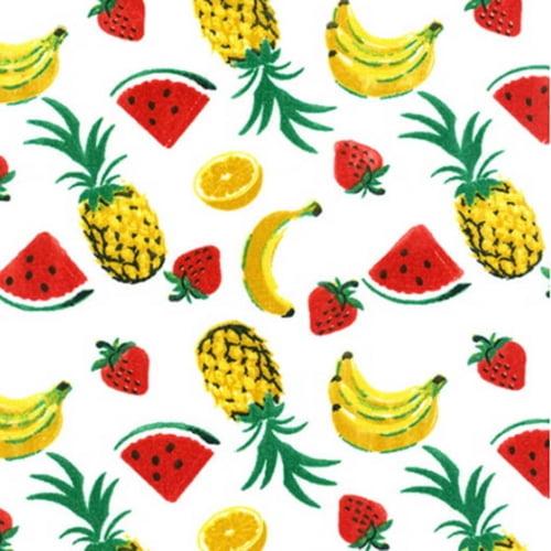 Tricoline Mix de Fruta 01 Branco