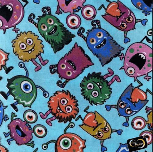 Tricoline Monstros Azul