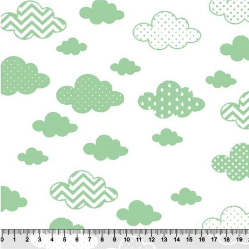 Tricoline Nuvens Geometricas Verde